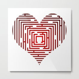maze in the heart Metal Print