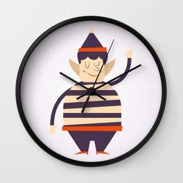Santa's elf says HI Wall Clock