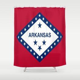 flag of arkansas-america,usa,The Natural State,Arkansan, Arkansawyer,Arkanite,Little Rock,Fort Smith Shower Curtain