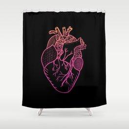 Designer Heart Colors Shower Curtain