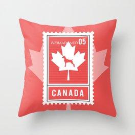 CANADA WEIM STAMP Throw Pillow