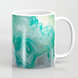 Teal Quartz Geode Coffee Mug