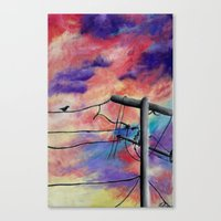 lonely Canvas Prints featuring Lonely by Erin Keating