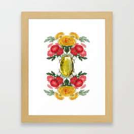 Birth Stone & Flower Print/NOVEMBER Framed Art Print
