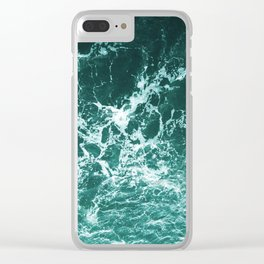 Upside Down Sea Water Splash Clear iPhone Case