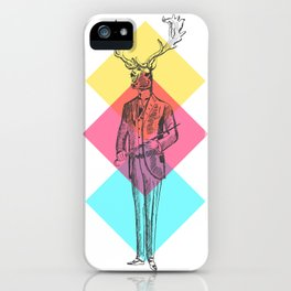 MANIMAL DEER iPhone Case