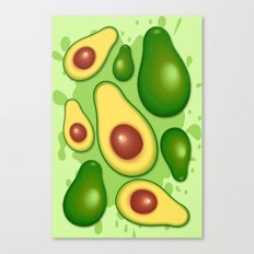 Avocado Juicy Pattern Canvas Print