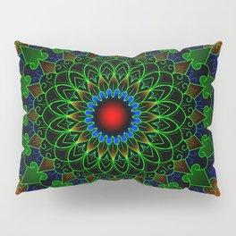 Neon cycle mandala Pillow Sham