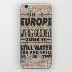 Off To Europe iPhone & iPod Skin