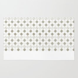 Dancing Grey Circles by Deirdre J Designs Rug