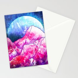The blue planet rises Stationery Cards
