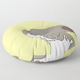 Sunny The Pitbull Puppy Floor Pillow