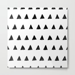 Black Triangle Pattern Metal Print