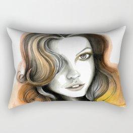 Yellow and Orange Flame Hair Rectangular Pillow