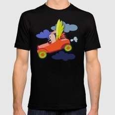 Fly High #2 MEDIUM Black Mens Fitted Tee
