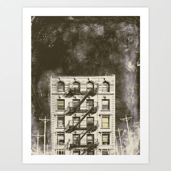 winter city 1 Art Print