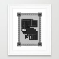 hydra Framed Art Prints featuring Hydra by necroMatador