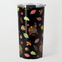 Thanksgiving Turkey pattern Travel Mug