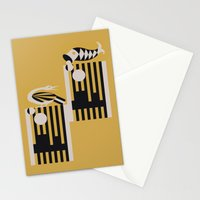 Art Deco Bird & Fish - Hemingway Stationery Cards