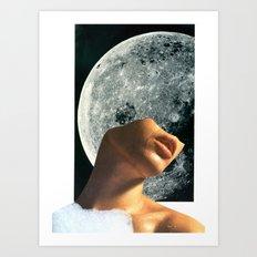 Hey Moon! Art Print