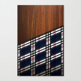 Wooden Scottish Tartan Canvas Print