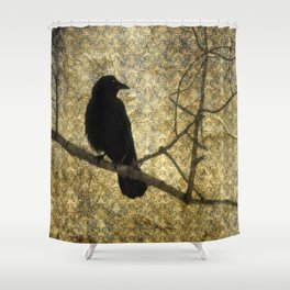 Crow Of Damask Shower Curtain