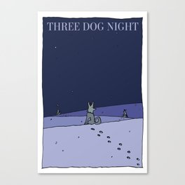 Three Dog Night - Winter Canvas Print