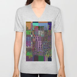 Pastel Playtime - Abstract, geometric, textured, pastel themed artwork Unisex V-Neck