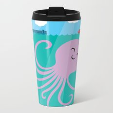 Octopus Selfie Metal Travel Mug
