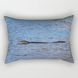 Swimming Alligator Rectangular Pillow