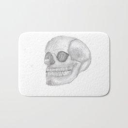 Death Skull (original work of 8yr old boy) Bath Mat