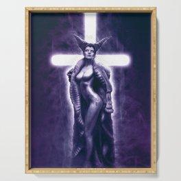 Lady Satanic Serving Tray