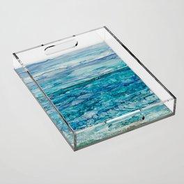 Ocean View Acrylic Tray