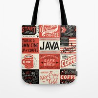 coffee Tote Bags featuring Coffee by Mary Kate McDevitt