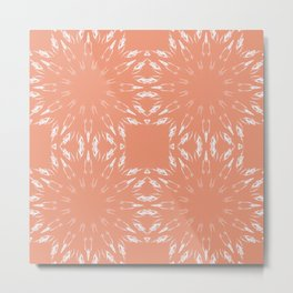 Peach Color Burst Metal Print