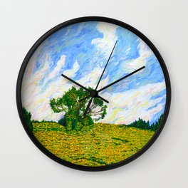 Hill With Tree Off of I-476 (World on Fire) Wall Clock