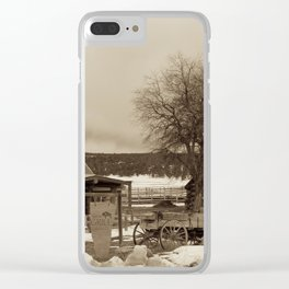 Cowboys Mess Hall Clear iPhone Case