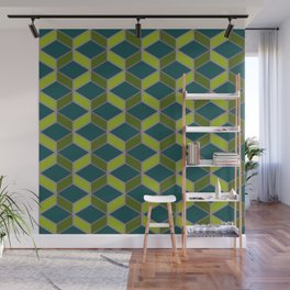 Hexangles - Orchid Wall Mural