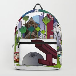 Torii night scene Backpack