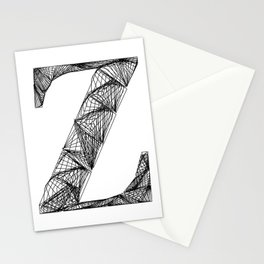 ''City Collection'' - Minimal Letter Z Print Stationery Cards
