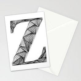 ''City Collection'' - Minimal Letter Z Print Stationery Cards