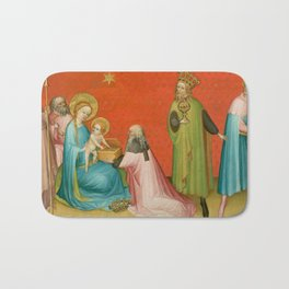 Adoration of the Magi with Saint Anthony Abbot Bath Mat