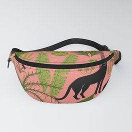 Tropical Panther Pattern Fanny Pack