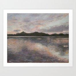 Sunset on Lake Chiemsee Art Print