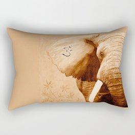 OM - ELEFANT sepia Rectangular Pillow