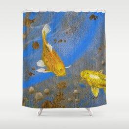 Pair of Golden Koi Shower Curtain