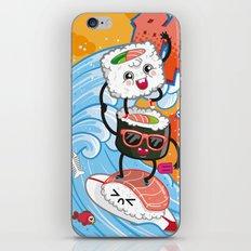 Surfin' sushi iPhone Skin