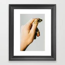 Golden Fingertips Framed Art Print