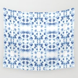 Mirror Dye Blue Wall Tapestry