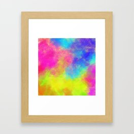Color powder Framed Art Print